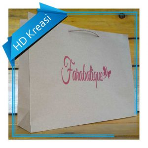 Paper Bag Butik Kraft coklat